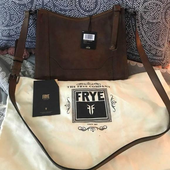 70d2b6346 Frye Bags | Bnwt Melissa Zip Crossbody Cognac | Poshmark